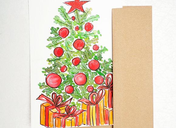 Carte de Souhaits - Sapin de Noël