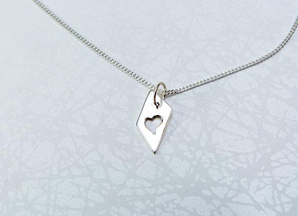 Collier Pendentif avec Coeur et chaîne en Argent