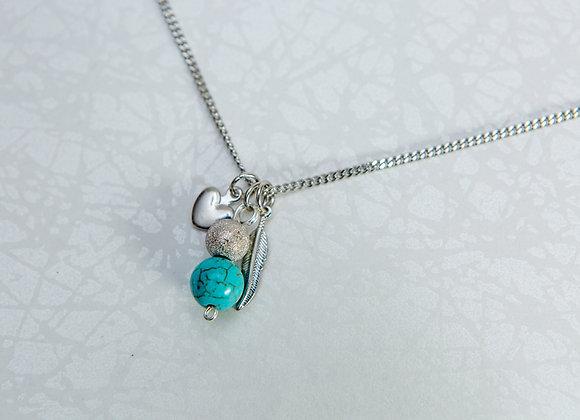 Collier Unique avec Breloque en Turquoise