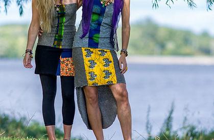 Robe coton tricot couleurs colorés vêtements bijoux fantaisie confortables original accessoires