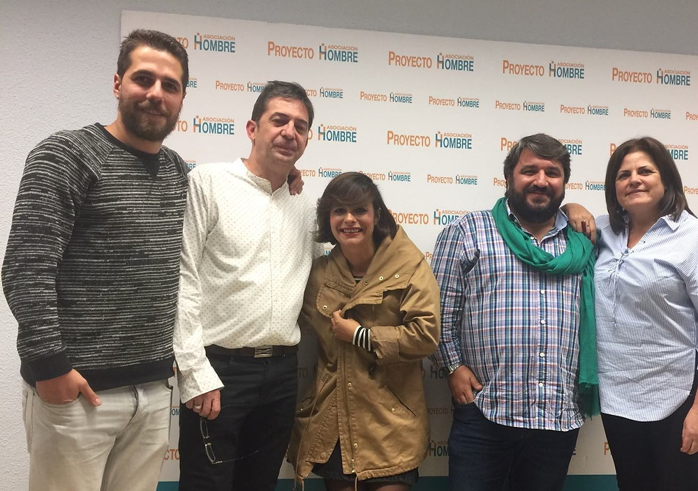izqda. a dcha: Alberto y Jesús- PH Granada, María- PH Canarias; Javi- PH Jerez; Mari Ángeles- PH Sevilla