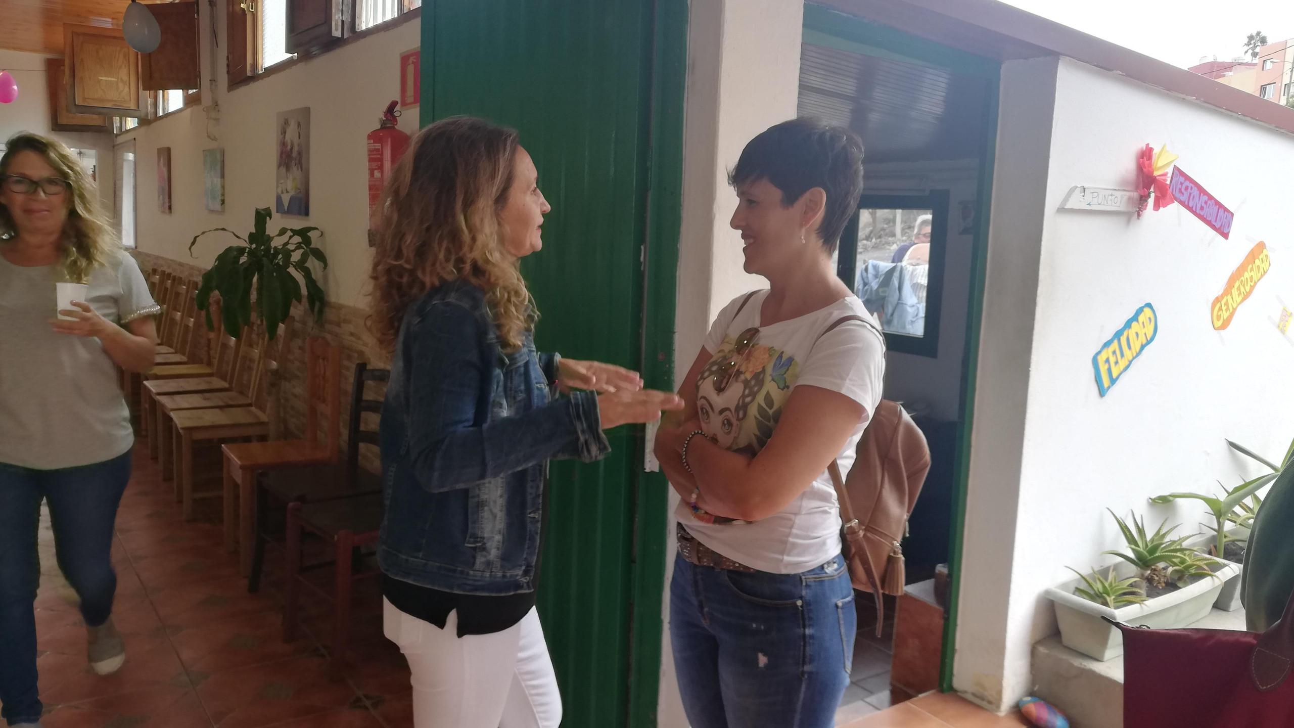Mari Carmen Lázaro y Mónica