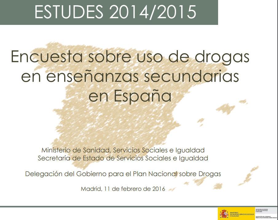 Encuesta sobre uso de drogas en enseñanzas secundarias en España
