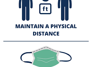 MAINTAIN A PHYSICAL DISTANCE AND FACE MA