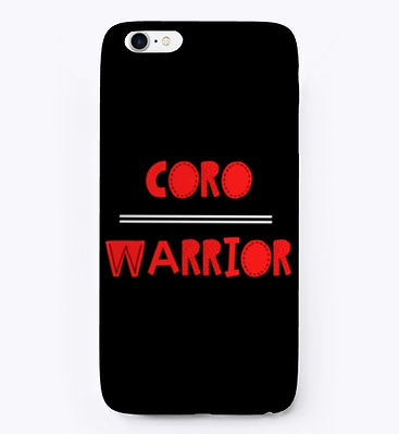 Coro Warrior Red, Black and White Iphone