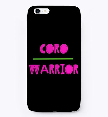 Coro Warrior Pink and Green Iphone Case.