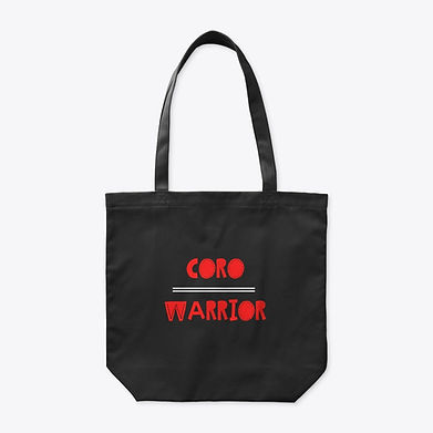 Coro Warrior Tote - Red, Black, and Whitejpg