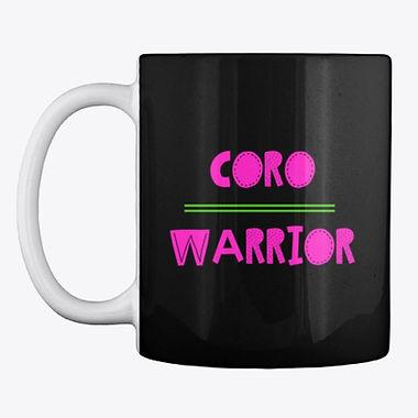 Coro Warrior Pink and Green Coffee and Tea Mug