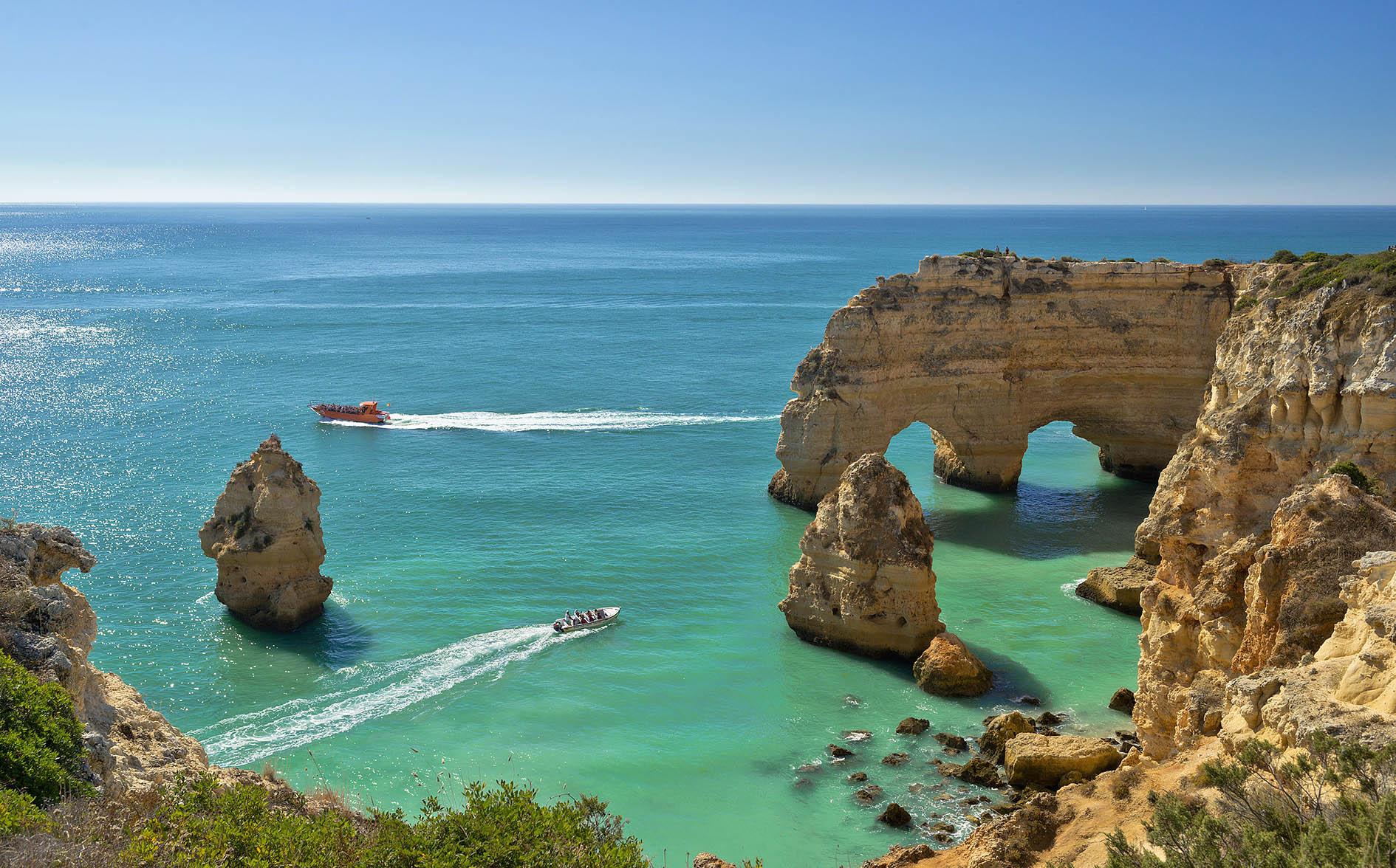 Praia da Marinha, the Algarve coast