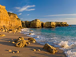 One of Michael Howard's beautiful Algarve beach pictures in evening light
