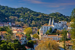 Sintra town and hills, Costa de Lisboa