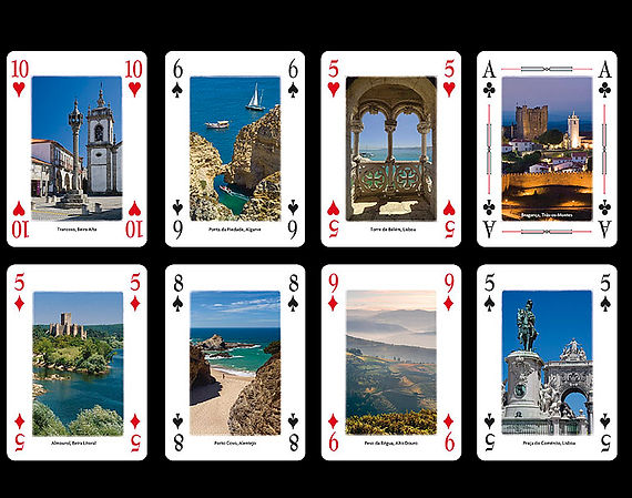 Cartas de Jogar | Playing cards with views of Portugal