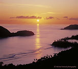 A tranquil tropical sunset, Mahé island, the Seychelles.