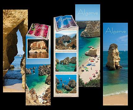 Bookmarks - marcadores de livros de cartolina com vista s do Algarve de Michael Howard