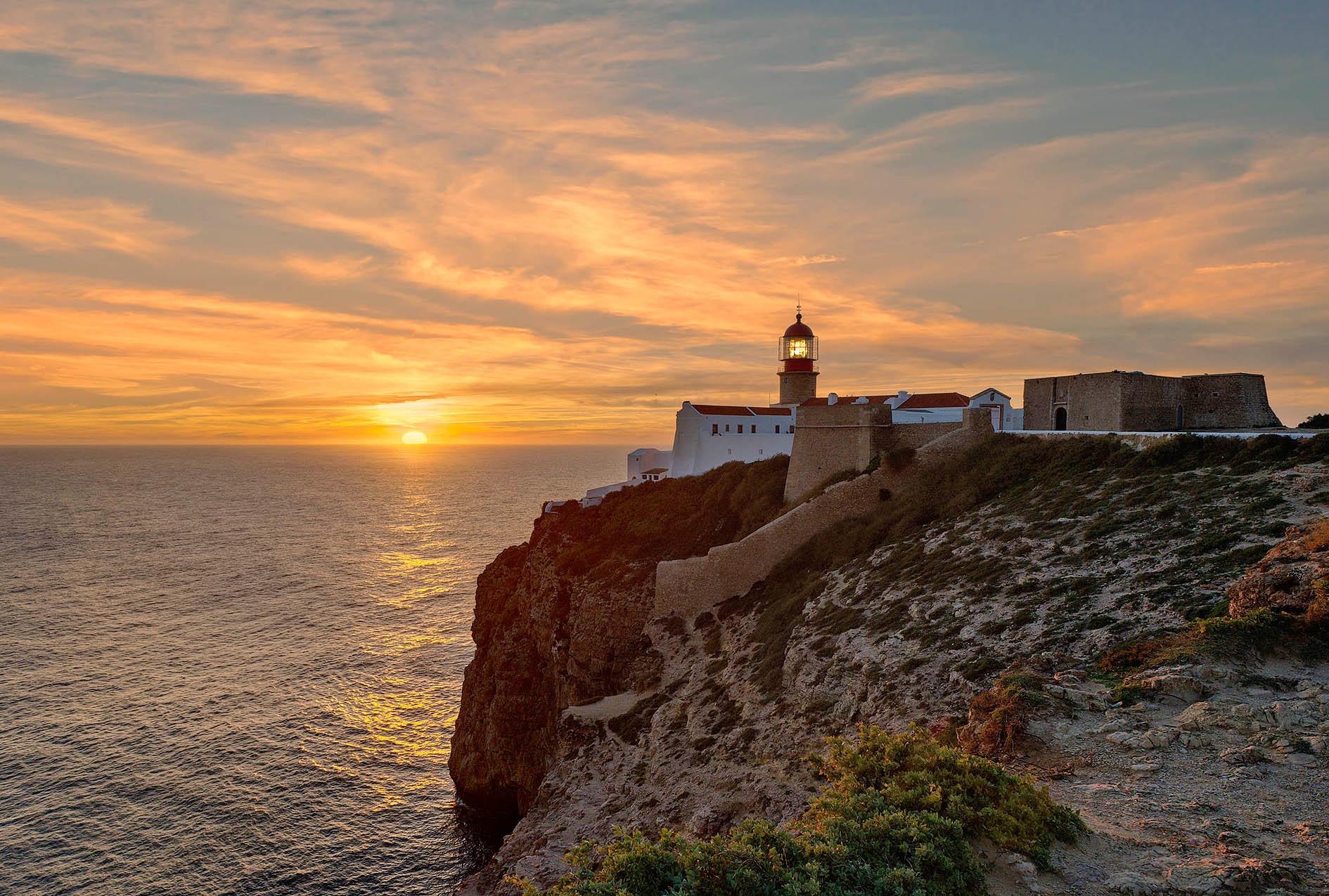 sunset Cape St Vincent, the Algarve