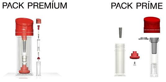 Pack Premium y Prime de Implantes Cortex