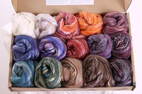 Paquet d'échantillons de fibres Soie / Merino