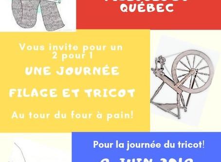 Journée Mondiale du Tricot                           (ET Filage )