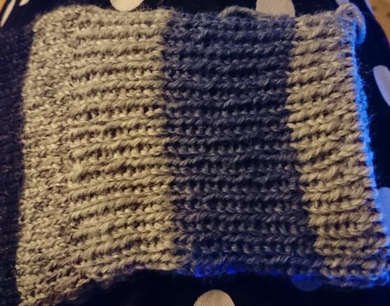 Astuce pour tricoter des rayures en côtes