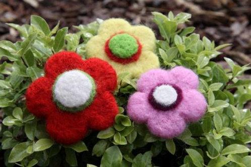 Kit de feutrage à l'aiguille - Fleurs