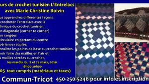 L'Entrelacs Crochet Tunisien avec Marie-Christine Boivin
