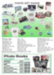 photo gift price list