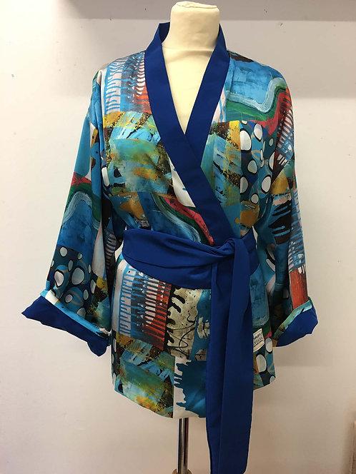 Silk Kimono-style jacket
