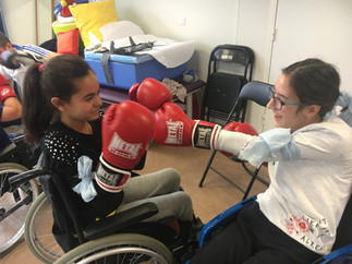 Journée de découverte sportive pour 16  jeunes du SESSAD Les Petits Princes le 20 décembre 2017
