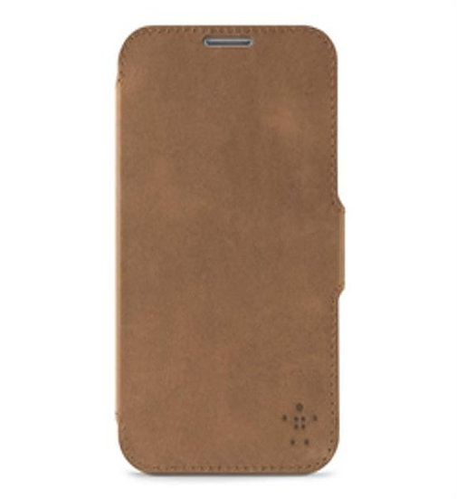 Belkin Premium Leather Folio For Samsung Galaxy Note 2 In Brown
