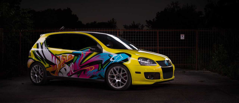 Vinyl car wrapping from professional graffiti artists