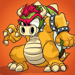 Bowser, the Dragon emerging from rough graffiti to final character design.