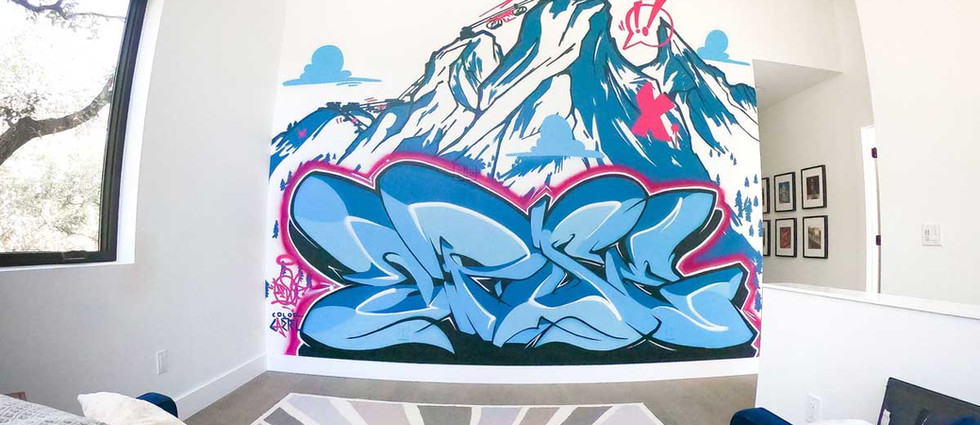 Interior painting by a graffiti artist for hire at Color Cartel