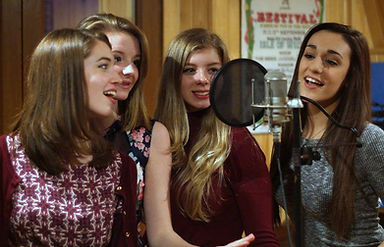 Company B - UK recording songs at Red Squirrel Productions