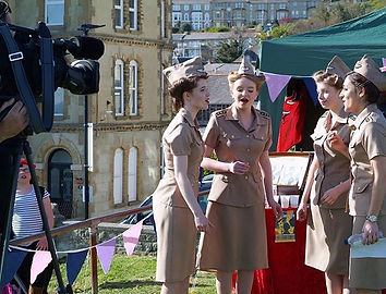 Company B - UK at Ventnor Day singing on BBC South Today TV