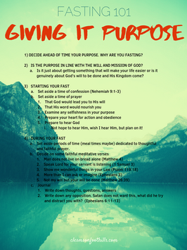 Fasting: Giving it purpose