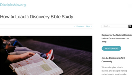 Leading a Discovery Bible Study