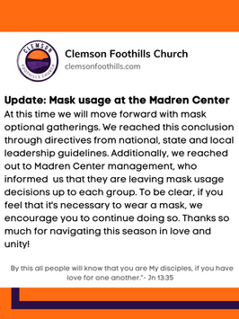 CFC Updated mask policy