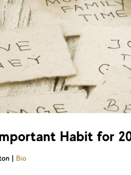 The Most Important Habit of 2020
