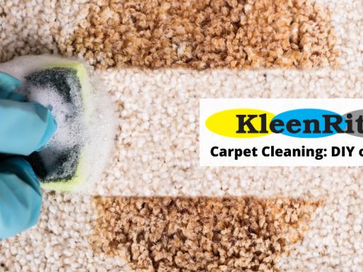 DIY Carpet Cleaning: DIY or not?