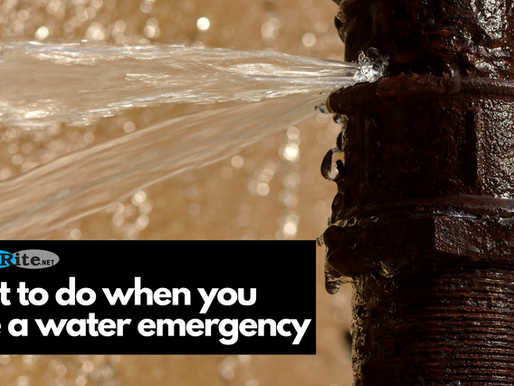What to do when you have a water emergency