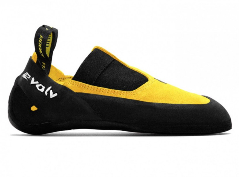 A climbing shoe without velcro or laces