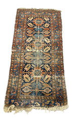 Small Red + Blue Persian Rug