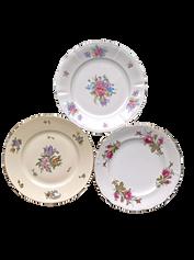 Large Floral Print Dinner Plate