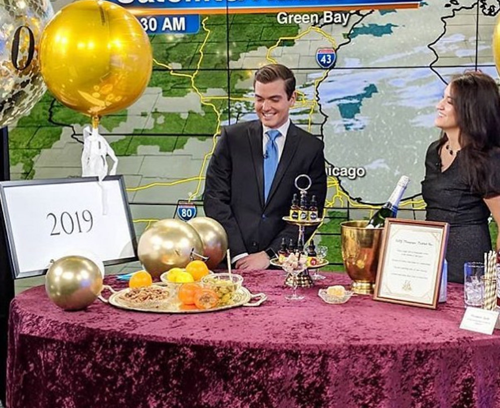 Kate Lerman wedding event planner on tv news abc 7 chicago nye new years eve party planning tips video