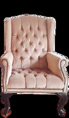 Medium Blush-Mauve Wingback Chair