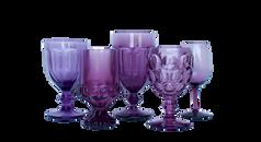 Purple Water and Wine Glassware
