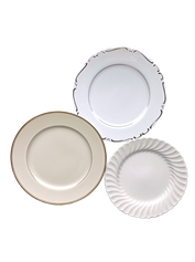 Neutral and Metallic Dinner Plate