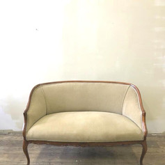 Antique sage settee loveseat - 2 available