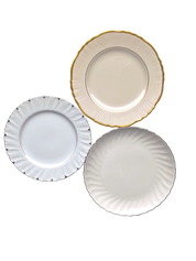 Neutral and Metallic Salad Plate