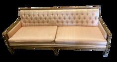 Peach Tufted Sofa